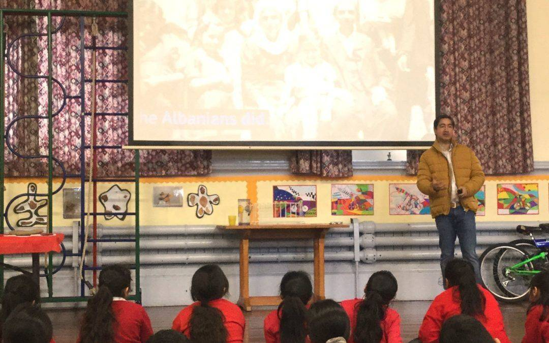 Pupils commemorate Holocaust Memorial Day with moving tales of bravery in protecting Jews