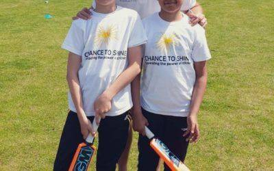 Pupils bowled over to meet cricket legends