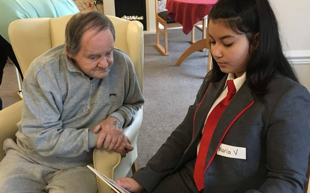 Pupils spread festive cheer among the elderly